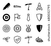 emblem icons set. set of 16...   Shutterstock .eps vector #680032795