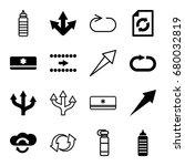 refresh icons set. set of 16... | Shutterstock .eps vector #680032819
