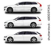 realistic car. station wagon.... | Shutterstock .eps vector #680039341