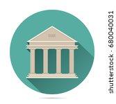 bank building icon vector flat... | Shutterstock .eps vector #680040031