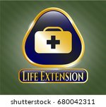 gold shiny badge with medical... | Shutterstock .eps vector #680042311
