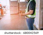 man worker handling a bluetooth