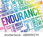 endurance word cloud collage ... | Shutterstock .eps vector #680050174