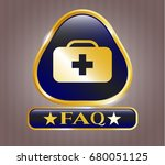 shiny badge with medical... | Shutterstock .eps vector #680051125
