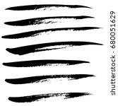 ink vector brush strokes set.... | Shutterstock .eps vector #680051629