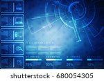 2d illustration technology... | Shutterstock . vector #680054305