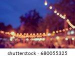 vintage tone blur image of... | Shutterstock . vector #680055325