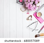 beautiful small objects and... | Shutterstock . vector #680057089