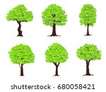 set of trees on white... | Shutterstock .eps vector #680058421