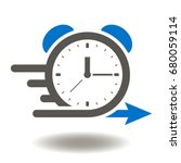 alarm clock fast speed quick... | Shutterstock .eps vector #680059114