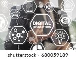 Digital Disruption. Concept Of...