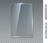 blank  transparent vector glass ... | Shutterstock .eps vector #680060035