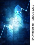 2d rendering stock market... | Shutterstock . vector #680061217