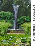 Small photo of Water feature in the Sunken Garden
