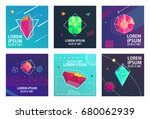 hipster style cards design... | Shutterstock .eps vector #680062939