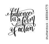 patience is a form of action... | Shutterstock . vector #680064775