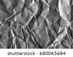crumpled gray paper background | Shutterstock . vector #680065684