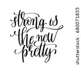 strong the new pretty black and ... | Shutterstock . vector #680071855