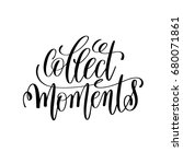 collect moment black and white... | Shutterstock . vector #680071861