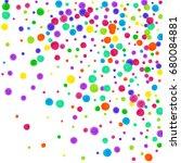 watercolor rainbow colored... | Shutterstock . vector #680084881