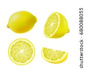 set of isolated colored lemons  ... | Shutterstock .eps vector #680088055
