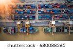 container ship in import export ...   Shutterstock . vector #680088265