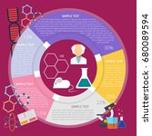 experiment infographic | Shutterstock .eps vector #680089594