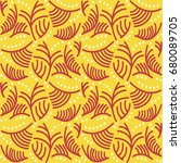indonesian batik pattern | Shutterstock .eps vector #680089705