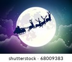 santa's sleigh | Shutterstock .eps vector #68009383