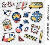 back to school doodle.... | Shutterstock .eps vector #680096119