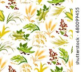 Cereals Seamless Pattern Of...
