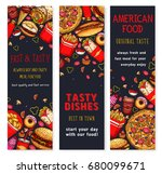 fast food restaurant banners... | Shutterstock .eps vector #680099671