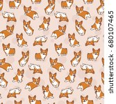 Cartoon Corgis Pattern