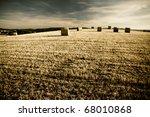 typical landscape in Italian region Tuscany - stock photo