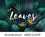 bright tropical background with ... | Shutterstock .eps vector #680111245