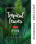 bright tropical background with ... | Shutterstock .eps vector #680111269