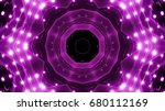 purple floodlights background | Shutterstock . vector #680112169