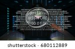 hacker accessing to personal... | Shutterstock . vector #680112889