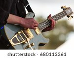 close up of man playing a rock... | Shutterstock . vector #680113261