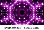 purple floodlights background | Shutterstock . vector #680113381