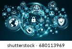personal data information... | Shutterstock . vector #680113969