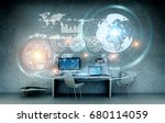 office with modern devices and... | Shutterstock . vector #680114059