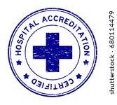 grunge blue hospital... | Shutterstock .eps vector #680114479