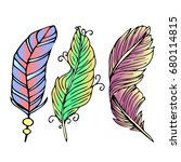 feather vector illustration on... | Shutterstock .eps vector #680114815