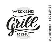 retro grill badges and labels... | Shutterstock .eps vector #680115499