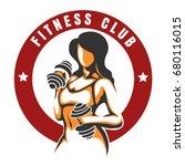 fitness and bodybuilding...   Shutterstock .eps vector #680116015