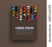 modern transport vertical... | Shutterstock .eps vector #680116459