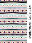 aztec shape seamless vector... | Shutterstock .eps vector #680118121