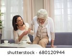 senior lady with hip problem... | Shutterstock . vector #680120944