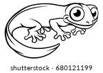 Newt Or Salamander Cartoon...
